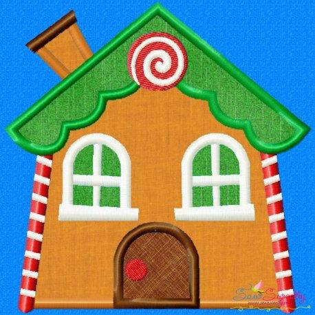 Gingerbread House Applique Design