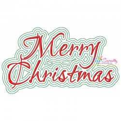 Merry Christmas Outlines Embroidery Design