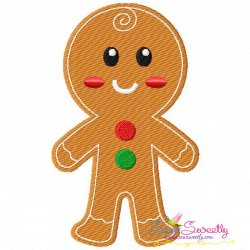 Gingerbread Boy Embroidery Design
