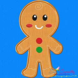 Gingerbread Boy Applique Design
