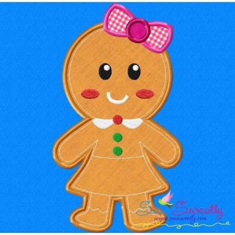 Gingerbread Girl Applique Design