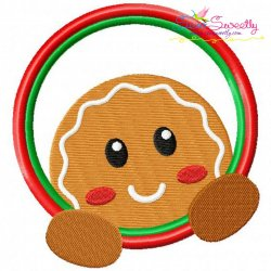 Gingerbread Circle Embroidery Design