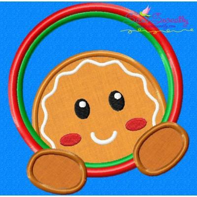 Gingerbread Circle Applique Design