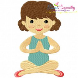 Yoga Girl-3 Embroidery Design