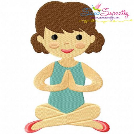 Yoga Girl-3 Embroidery Design For Sports Event And Kids