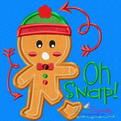 Gingerbread Oh Snap Applique Design