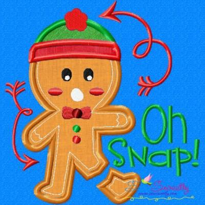 Gingerbread Oh Snap Applique Design