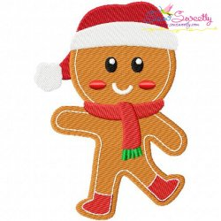 Gingerbread Santa Embroidery Design