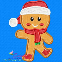 Gingerbread Santa Applique Design