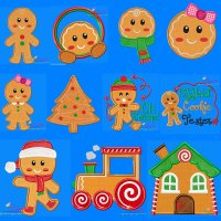 Gingerbread Embroidery Design Bundle