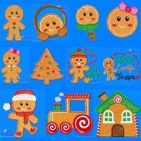Gingerbread Embroidery Design Bundle