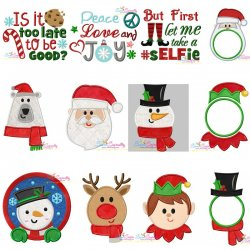 Christmas Embroidery Design Bundle