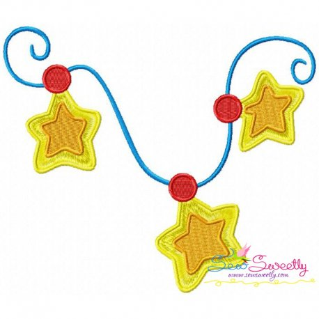 Christmas Stars Ornament Embroidery Design