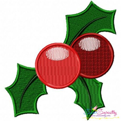 Christmas Holly Leaves-2 Embroidery Design Pattern- Category- Christmas Designs- 1