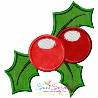 Christmas Holly Leaves-2 Applique Design