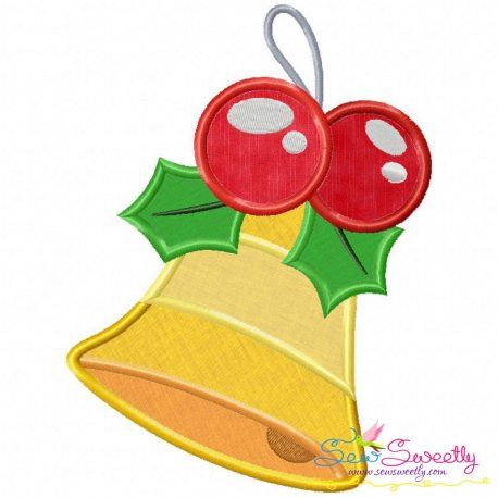 Christmas Bell-2 Applique Design Pattern- Category- Christmas Designs- 1
