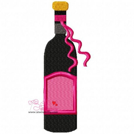 Cocktails Bottle Embroidery Design