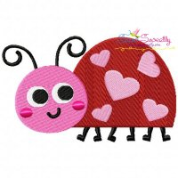 Valentine Ladybug Embroidery Design