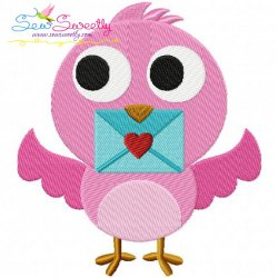 Valentine Little Bird Embroidery Design