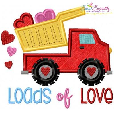 Free Loads of Love Applique Design