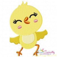 Dancing Chick Embroidery Design