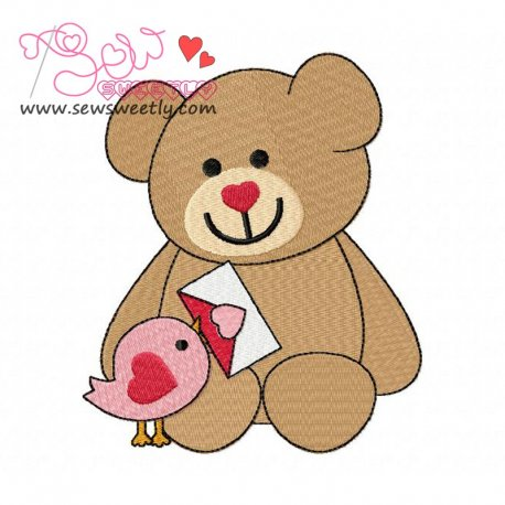 Valentine Teddy Bears Embroidery Design