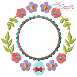 Easter Spring Frame Embroidery Design