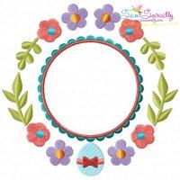 Easter Spring Frame Embroidery Design