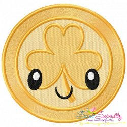 St.Patrick's Day Coin Kawaii Embroidery Design