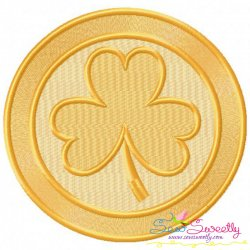 St.Patrick's Day Coin Embroidery Design