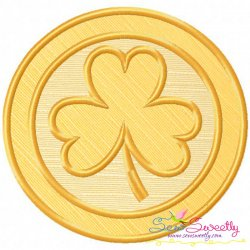 St.Patrick's Day Coin Applique Design