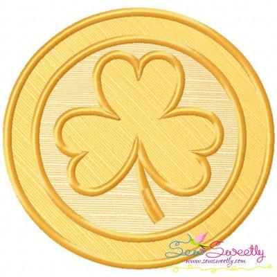 St.Patrick's Day Coin Applique Design