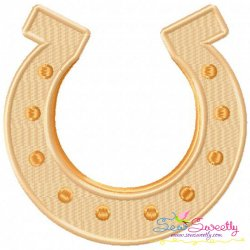 St.Patrick's Day Horseshoe Embroidery Design