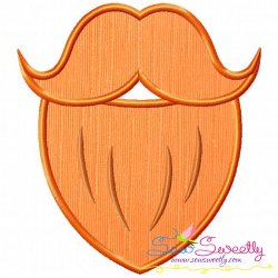 St.Patrick's Day Beard Applique Design