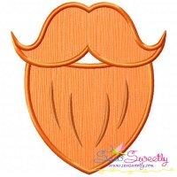 St.Patrick's Day Beard Applique Design