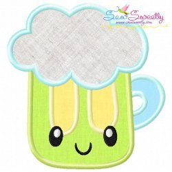 St.Patrick's Day Beer Kawaii Applique Design