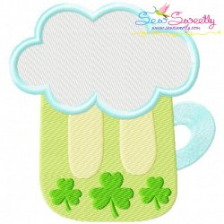 St.Patrick's Day Beer Embroidery Design
