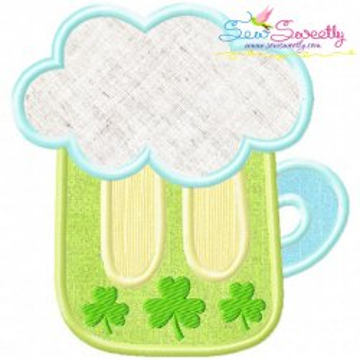 St.Patrick's Day Beer Applique Design