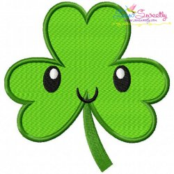 St.Patrick's Day Shamrock Kawaii Embroidery Design