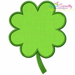 St.Patrick's Day Clover Applique Design