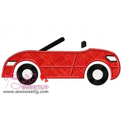Red Car Applique Design
