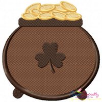 St.Patrick's Day Pot of Gold Embroidery Design