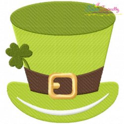 St-Patrick's Day Hat Embroidery Design