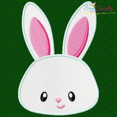 Easter Bunny Face Boy Embroidery Design