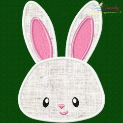 Easter Bunny Face Boy Applique Design
