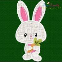 Easter Bunny Boy Carrot Applique Design