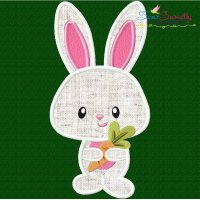 Easter Bunny Boy Carrot Applique Design