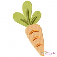 Fresh Carrot Embroidery Design