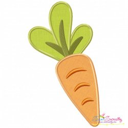 Fresh Carrot Applique Design