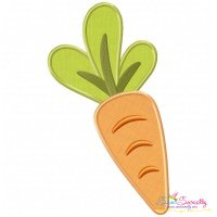 Fresh Carrot Applique Design